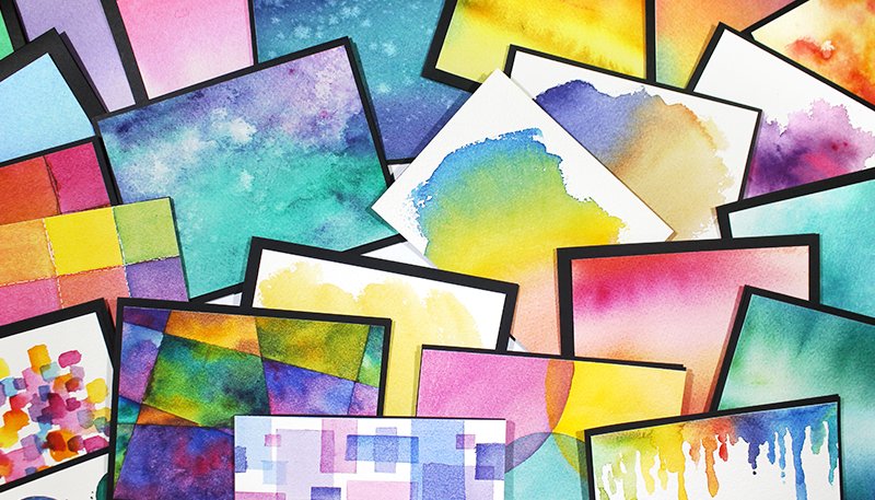 Watercolor Backgrounds for Cardmakers