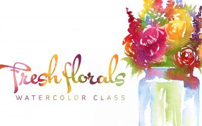 Fresh Florals Watercolor Class