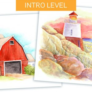 Paintalong Watercolor Landscapes (Free Course)