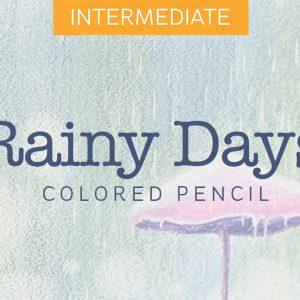 Mini Colored Pencil Course: Rainy Days