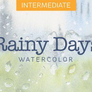 Mini Watercolor Course: Rainy Days